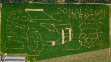 Photo of Warren County corn maze benefits Hackettstown-Mansfield PBA's Shop with a Cop program