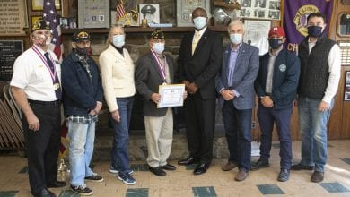 Photo of Operation Noble Eagle Veteran honored by Morris County Freeholders and Mount Olive Township
