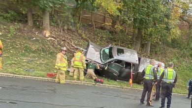 Photo of Driver extricated from pickup after crashing on Route 31 in Warren County