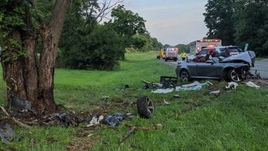 Photo of 2 injured, 1 flown after single-vehicle crash on I-80 in Allamuchy Twp