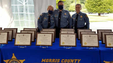 Photo of Morris County Sheriff's Officers, Correctional Police Officers and civilian staff lauded for life-saving efforts and outstanding diligence