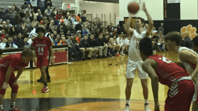 Photo of Hackettstown Boys Basketball team defeats Ridgefield Park, advances to the NJSIAA N2G2 finals