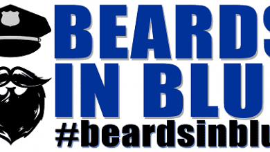 Photo of Hackettstown police participate in 'Beards In Blue' this November