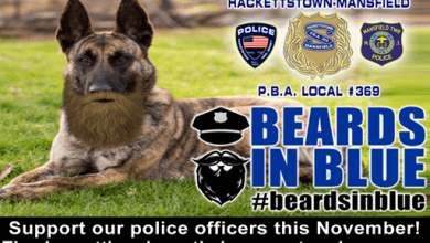 Photo of Hackettstown, Mansfield police participate in 'Beards In Blue' this November