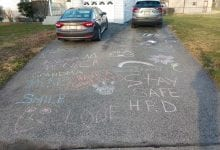 Photo of People take to driveways, sidewalks with colorful chalk to share messages and pictures amid COVID-19 pandemic (VIDEO)