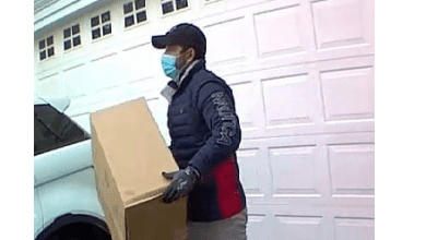 Photo of Clinton Twp Police looking for suspect accused of stealing packages