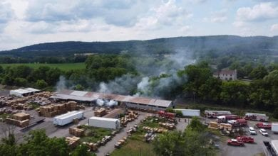 Photo of No injuries after fire at Warren County pallet company