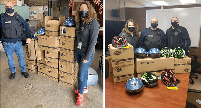 TransOptions donates bicycle helmets to Hopatcong School District