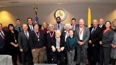 Photo of Freeholders Award Distinguished Military Service Medals to Morris County Veterans