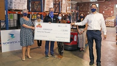 Photo of ShopRite of Hunterdon County and partners donate $25,000 to Norwescap Food Bank