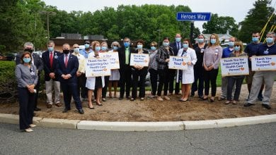 Photo of Gottheimer helps name street at Newton Medical Center to honor COVID-19 health care heroes