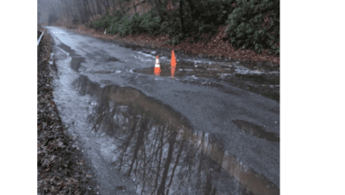 Photo of Section of Old Mine Road to be closed for repair