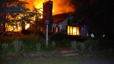 Photo of House destroyed by fire in Hunterdon County