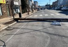 Photo of Driver cited after striking utility pole in Hackettstown