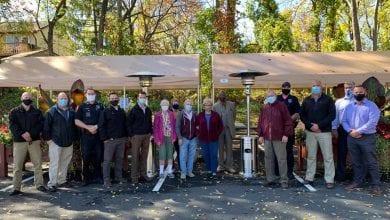 Photo of Vernon Township PBA donates portable outdoor heaters to senior center