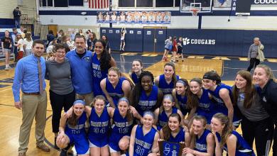 Photo of Warren Hills Girls Basketball team wins sectional championship title