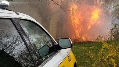 Photo of House destroyed by fire in Washington Township, Morris County