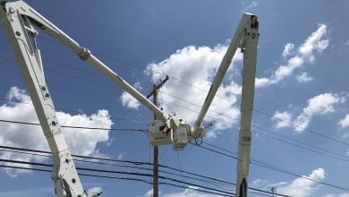 Photo of FirstEnergy crews continue working around the clock to restore power
