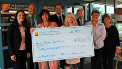 Photo of Atlantic Health System and  Hackettstown Medical Center  Gives Grant to Substance Abuse Advocacy Group