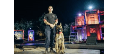 "Photo of Morris County Detective, K-9 partner compete on ""America's Top Dog"" series"