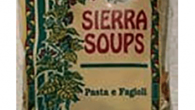 "Photo of Sierra Soups issues allergy alert on undeclared gluten in ""Pasta e Fagioli"" soup"