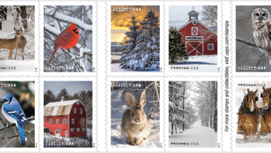 Photo of USPS unveils new Forever Stamps for holiday season